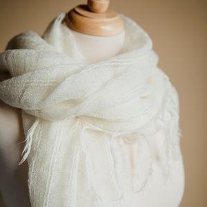 Lulu's Accessories - Lulus Versatile Soft Ivory Shawl Scarf W/ Tassels